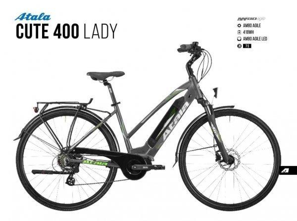 ATALA CUTE 400 LADY| Am 80 Agile | Battery 400 wh | ebike usata